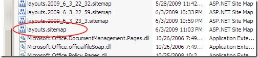 A SharePoint Site's LAYOUTS SiteMap File