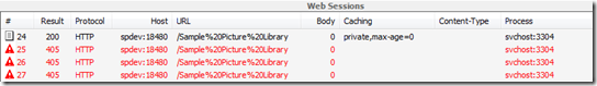 Explorer View with IIS7 WebDAV Enabled