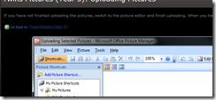 The Microsoft Office Picture Manager being launched