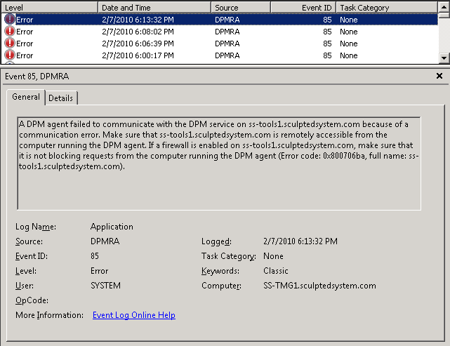 DPM, RPC, and DCOM with Forefront TMG 2010 – The SharePoint