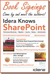Idera book signings at SPTechCon