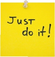 """Just Do It"" Post-It Note"