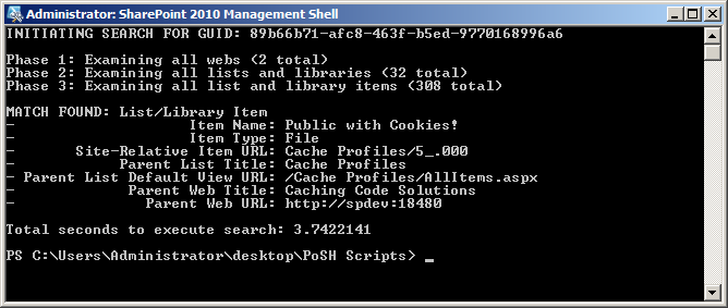 Finding a GUID in a SharePoint Haystack – The SharePoint Interface