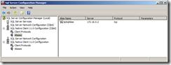 SQL Server Alias Configuration