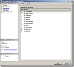 App Management Database Roles