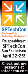 I'm speaking at SPTechCon San Francisco 2014