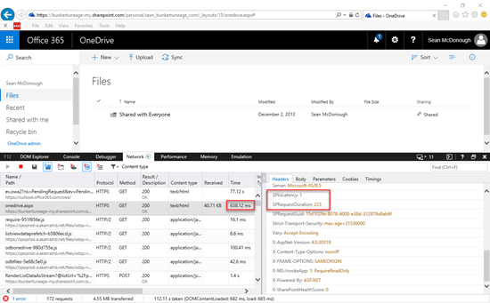 OneDrive for Business Performance
