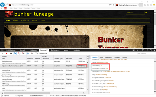 Bunker Tuneage Page Profile
